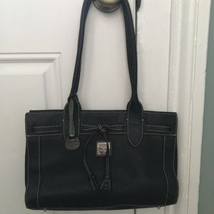 Dooney & Bourke Pebbled Black Leather Shoulder Bag